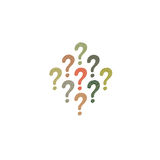 Colorful question mark icon  on white Stock Photo