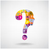 Colorful question mark man head symbol Stock Photos