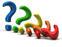 Colorful question mark signs Stock Photography