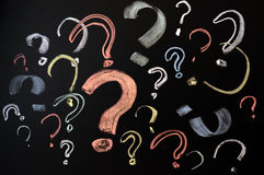 Colorful question marks Royalty Free Stock Photography