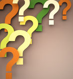 Colorful Question Marks Stock Images