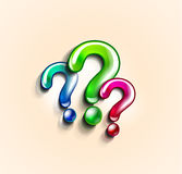 Colorful question marks design template Stock Photography