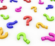 Colorful Question Marks Stock Image