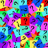 Colorful question marks. Stock Photos