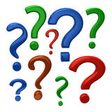 Colorful question marks sign Royalty Free Stock Photo