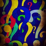 Colorful questionmarks Stock Image