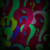 Colorful questionmarks Royalty Free Stock Photo