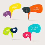 Colorful questions speech bubbles Royalty Free Stock Photo