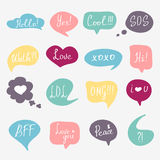 Colorful questions speech bubbles set Stock Image