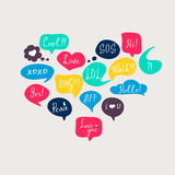 Colorful questions speech bubbles set Royalty Free Stock Photo