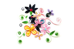 Colorful quilling paper flower royalty free stock images