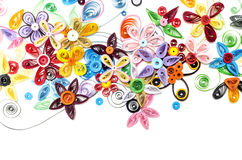 Colorful quilling paper flower royalty free stock image