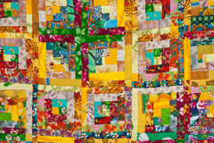 Colorful quilt background Stock Photos