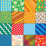 Colorful Quilt Patchwork. Vector Pattern Royalty Free Stock Photos