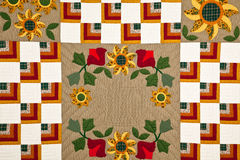 Colorful quilt pattern. Colorful antique quilt pattern background Royalty Free Stock Images