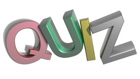 Colorful Quiz. Quiz written in 3D capital letters and in different colors Royalty Free Stock Photo