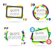 Colorful quote template information text blog business mobile  on white background vector illustration Stock Photo