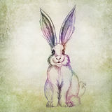 Colorful rabbit drawing Royalty Free Stock Images