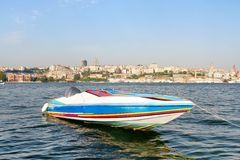 Colorful Race Boat Stock Photography