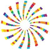 Colorful radial circular element. Multicolor geometric circle of Stock Image