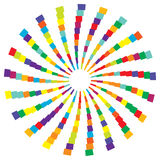Colorful radial circular element. Multicolor geometric circle of Stock Images