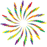 Colorful radial circular element. Multicolor geometric circle of Stock Photos