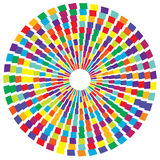 Colorful radial circular element. Multicolor geometric circle of Royalty Free Stock Images
