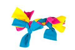 Colorful rag chew toy for puppies Royalty Free Stock Photos