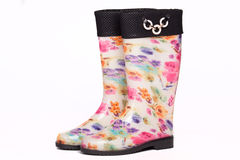 Colorful rain boots Stock Photos