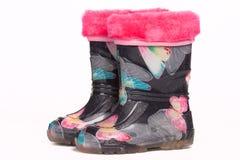 Colorful rain boots Stock Photos
