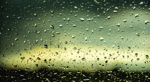 Colorful Rain on the window Royalty Free Stock Photography