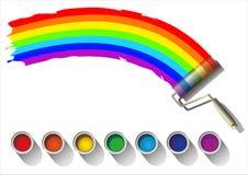 Colorful rainbow Stock Image