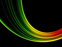 Colorful rainbow. Rainbow colored abstract ring on black Stock Photo