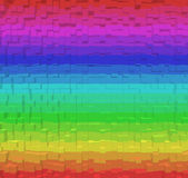 Colorful rainbow abstract background, 3d block style Stock Images