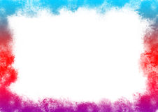 Colorful rainbow around the perimeter. Ilustration or background for graphic work Royalty Free Stock Images