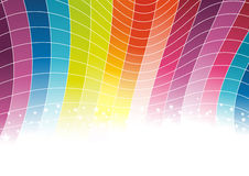 Colorful rainbow background - cells. Clip-art stock illustration
