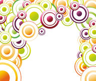 Colorful rainbow background with circles Stock Image