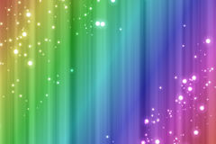 Colorful rainbow background with sparks effect Stock Photography