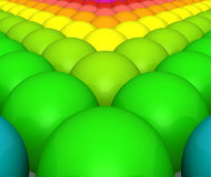 Colorful rainbow balls background Stock Photography