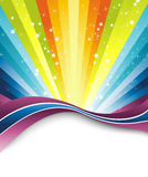 Colorful rainbow banner template Royalty Free Stock Image