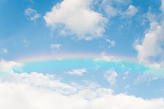Colorful rainbow  on blue sky background Stock Photography