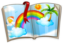 Colorful rainbow in the book Royalty Free Stock Image