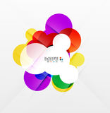 Colorful rainbow bubbles abstract background Royalty Free Stock Image