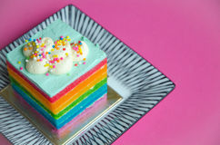 Rainbow cake Royalty Free Stock Photography