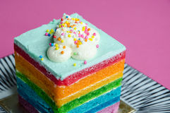 Rainbow cake Royalty Free Stock Image