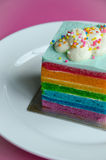 Rainbow cake Royalty Free Stock Photo