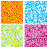 Colorful rainbow circle background Stock Images
