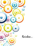 Colorful rainbow circles Stock Image