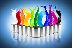 Colorful rainbow color dose splash Royalty Free Stock Photography