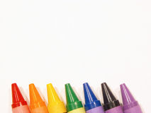 Colorful rainbow of crayons. Crayons stock photos